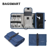 Bagsmart Travel Gadgets Organizer Bag, Electronics Accessories Carrying Case Pouch for Charger USB C