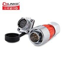 CNLINKO DH20 9 broches coque en métal mâle femelle connecteur étanche puissance soudure AC câble cc pour éclairage de LED
