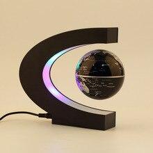 Novedad, 1 Uds., decoración novedosa, levitación magnética flotante, enseñanza, globo educativo, decoración del mapa del mundo, regalo de Santa, enchufe estadounidense