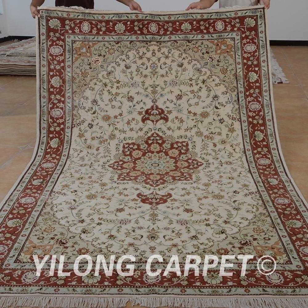Yilong-سجادة غرفة معيشة من الصوف الشرقي ، 6 × 9 بوصة ، فارسي ، صناعة يدوية ، رائعة ، نمط شرقي (1473)