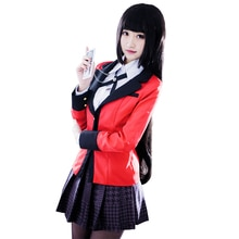 Anime Kakegurui Yumeko Jabami Cosplay disfraces japonés uniforme escolar niña conjunto completo Haloween disfraces de fiesta Cosplay