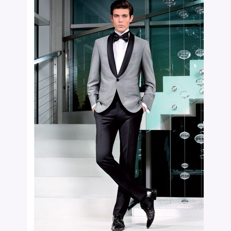 قطعتين 2017 بدل زفاف رجالي بدلة العريس بدلة رسمية بدلة زفاف رجالية بدلة عشاء أفضل رجل (جاكيت + بنطلون + ربطة عنق)