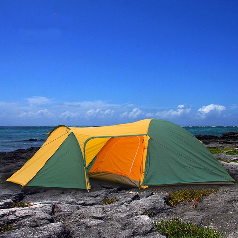 Carpas para recreación al aire libre carpas impermeables doble capa 3 4 persona tienda de campaña senderismo viaje playa carpa de equipo de Camping