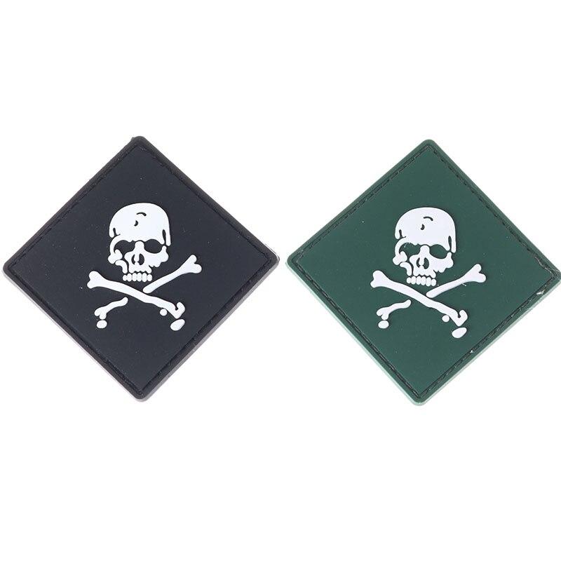 58x58mm projeto salvadores espanador pvc crânio verde/azul espírito tático esportes ao ar livre à prova dwaterproof água legion remendo 1pc
