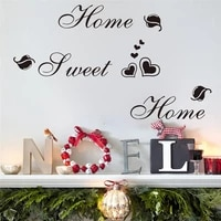 Autocollants muraux en vinyle  motifs en forme de coeur  citation  decoration de maison  diy bricolage
