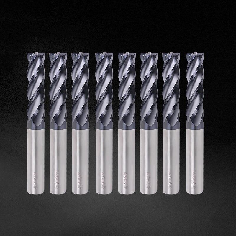 Fresa de tungsteno de 4 flautas, fresa de carburo de aleación de tungsteno de 10mm y 12mm