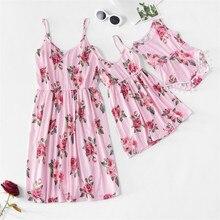 Robe dété pour maman et fille   Motif Floral, longue et Maxi, pour mère et fille, vêtements assortis avec la famille, vêtements maman et moi