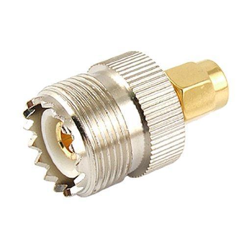 10x nova venda quente uhf so-239 so239 fêmea para sma macho plug conector adaptador coaxial