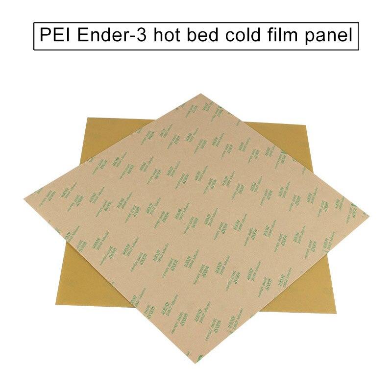 Superficie de construcción Base de 235x235mm PEI 0,2mm de espesor con adhesivo para ofertas de Ender-3