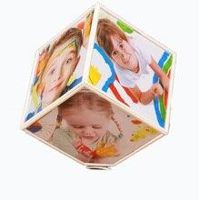 Cadre Photo créatif à Rotation automatique   Cadre Photo créatif à Six faces, Cube de personnalité, cadre dimensionnel à 360 degrés