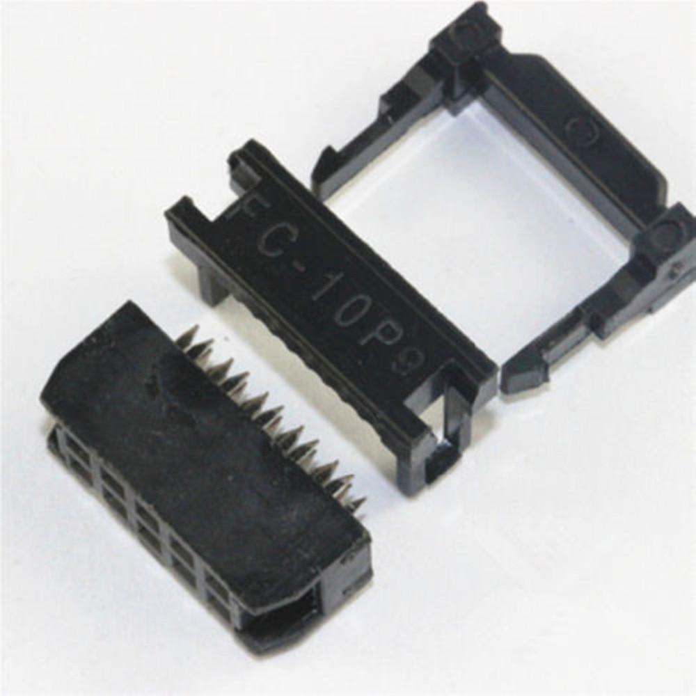 10 Uds hembra IDC FC-10P 2,54mm conector IDC de 10 pines toma de cable 10P 2X5P IDC CAIZHIXING