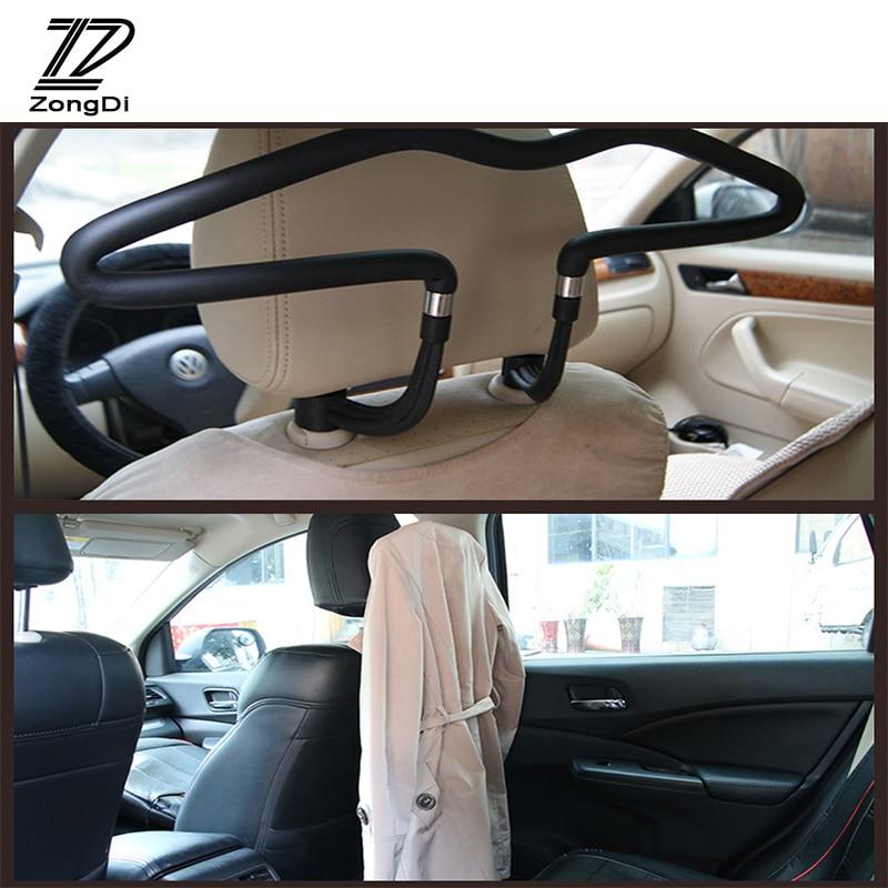 Percha de coche ZD, perchero para ropa, reposacabezas de acero inoxidable para Ford Focus 2 3 VW Passat B6 B5 B7 B8 Toyota Avensis Skoda Octavia Rapid Fabia
