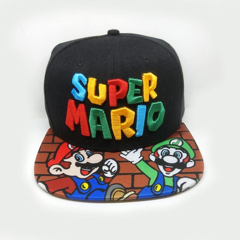 Super Mario Cosplay Props Baseball Hat Mario Bros Cosplay Cap Game Super Mario Hat Adult Kids Cosplay Caps Handmade BOOKER