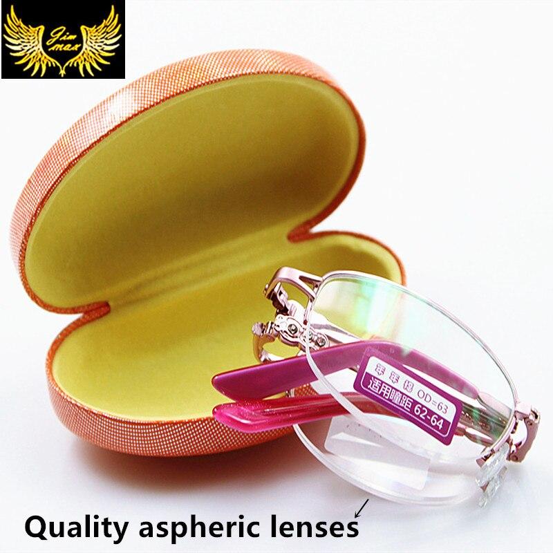 Estilo da forma da Mulher Strass Qualidade Dobrável Óculos de Leitura Com caso Meia Borda Rosa Cor Rodada Presbiopia óculos de leitura para As Mulheres