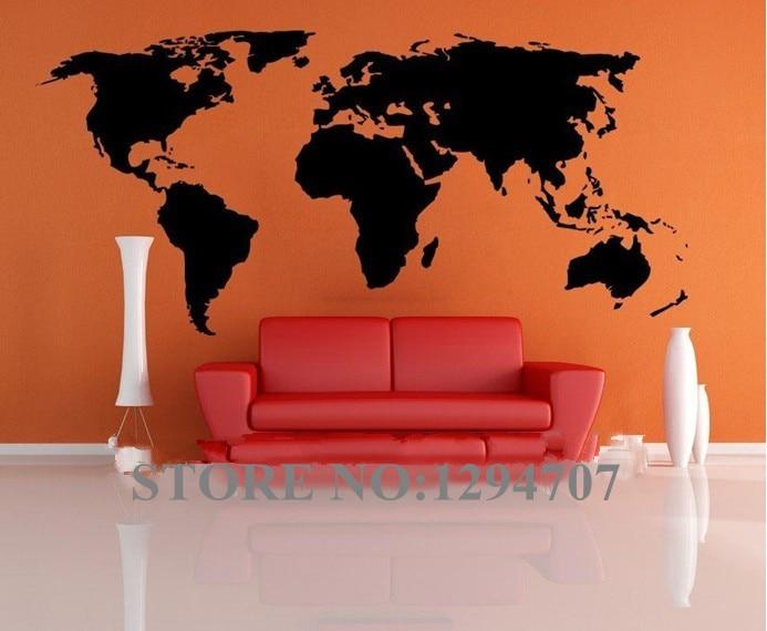 HOT 1 PCSHUGE 200x90cm CCR1103 Big Global World Map Atlas Vinyl Wall Art Decal Sticker