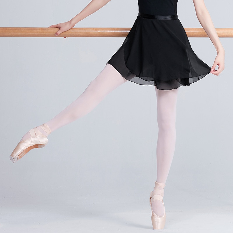Adulto chiffon ballet dança tutu saia feminino meninas ginástica envoltório saia treinamento ballet saias