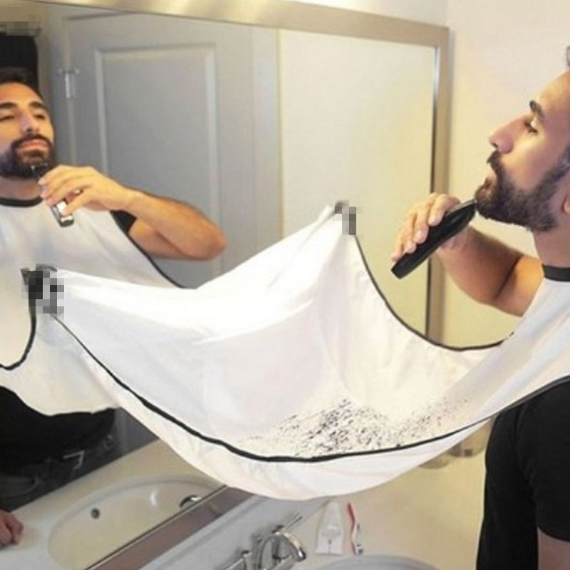 FHEAL masculino delantal de afeitarse para el cuidado de la barba baño afeitado delantal para hombre impermeable Floral paño para limpieza de hogar Protector