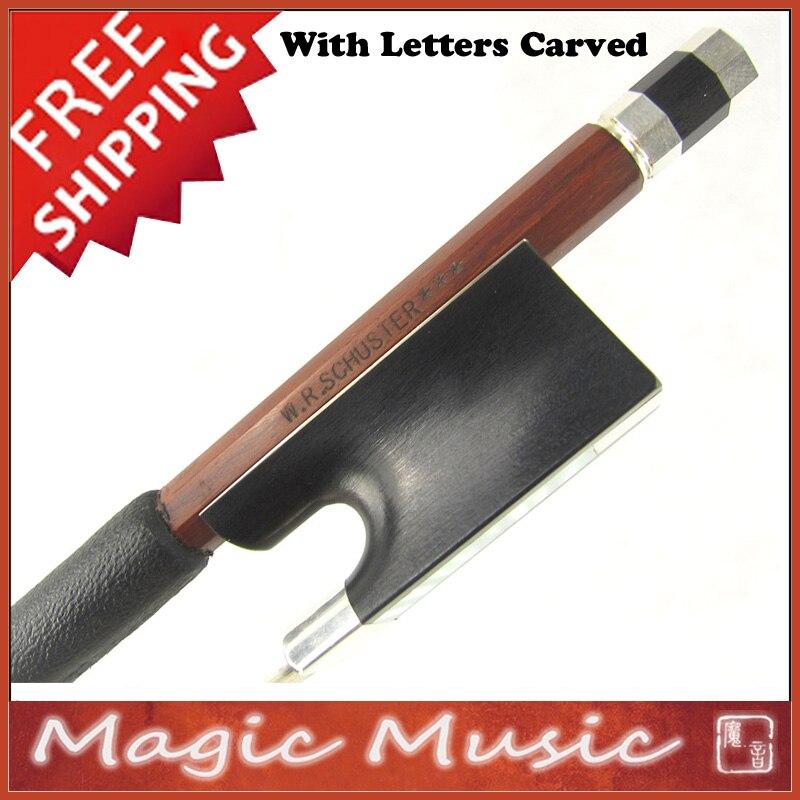 Frete grátis! Colina modelo w. r. schuster ** * nível mestre prata ipe concerto violino arco 4/4, com qualidade superior rãs