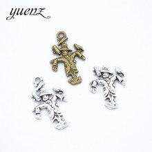 YuenZ 15 pcs 2 colour Antique silver scarecrow Charms Metal Pendant Diy Charms Necklace Bracelet Jewelry Making 24*15mm I1102
