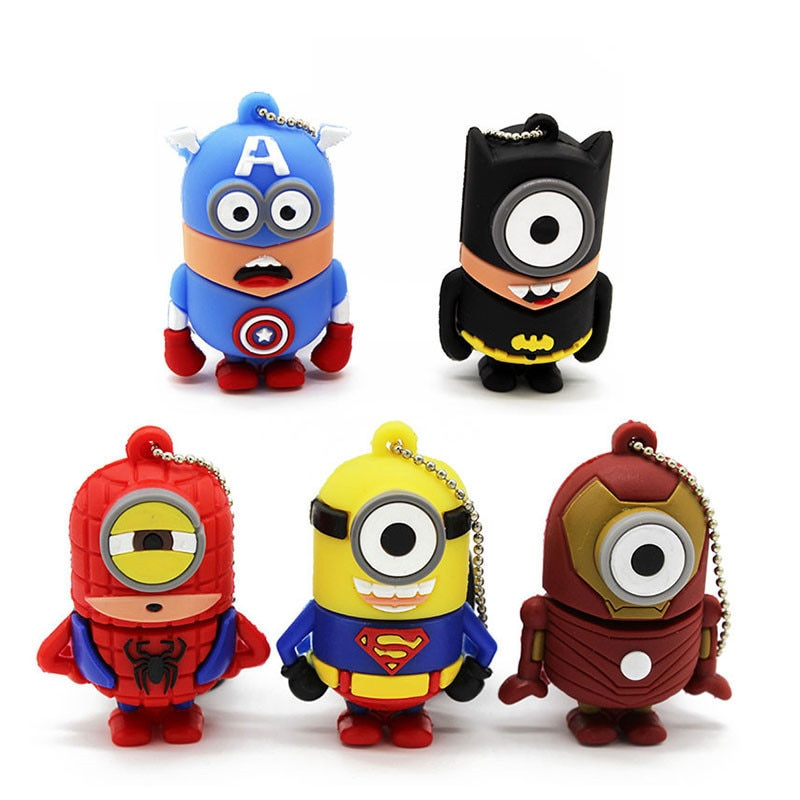 Usb pendrive usb 2.0 8g 16g 32g usb.0 flash drivdriveck pendrive cartoonsbest presente super-herói vingador/superman/batman/homem-aranha