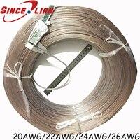 5 метров 26AWG 2468 UL2468 ПВХ Луженая голая медь шнур золотистый и серебристый ROHS 20 22 24AWG аудио кабель динамик кабель прозрачная линия