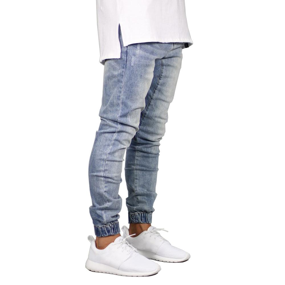 Модные Стрейчевые мужские джинсы, джинсовые джоггеры, дизайнерские Джоггеры в стиле хип-хоп для мужчин Y5036