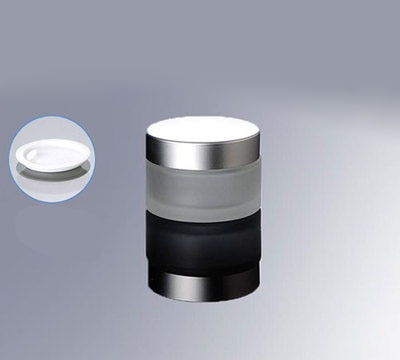 Tarro de crema de vidrio esmerilado con tapa plateada, 1 oz, frasco de crema para cosmética de vidrio esmerilado, venta al por mayor, frasco de vidrio para cosméticos de 30 ml 50 Uds 30G