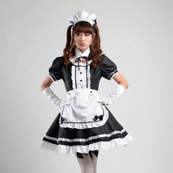 Sexy Maid Cosplay traje de las mujeres dulces vestido Lolita Anime Cosplay Sissy dama uniforme de talla grande disfraces de Halloween S-3XL