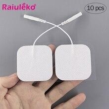 10 Pcs 5x 5 Cm/5X9 Cm Tientallen Niet-geweven Zelfklevende Vervanging Herbruikbare Elektrode Pad voor Spierstimulator Tientallen Massager Pads