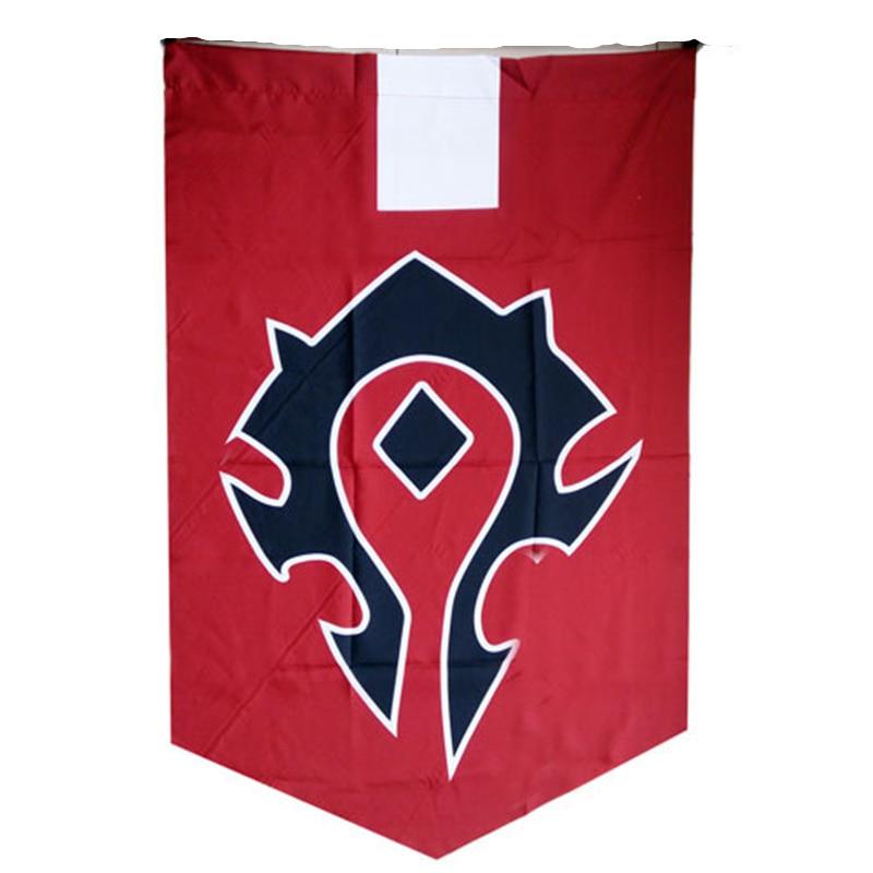 WOW World of Warcr Alliance Horde баннер вышивка флаг лавсан Косплей Аксессуары кино Warcraft