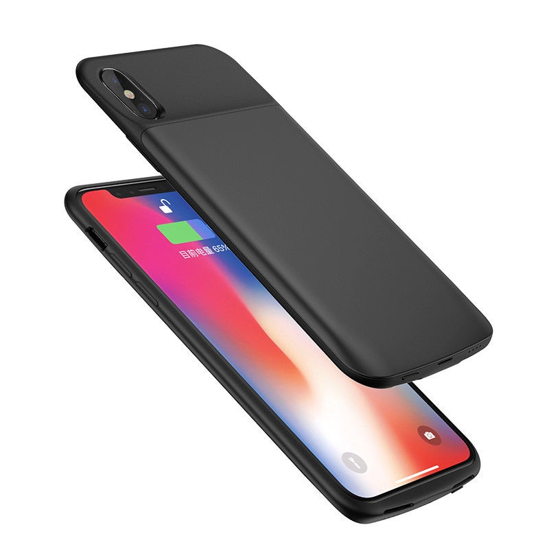 Carcasa blanda para cargador de batería recargable delgada para iPhone X de Apple 10