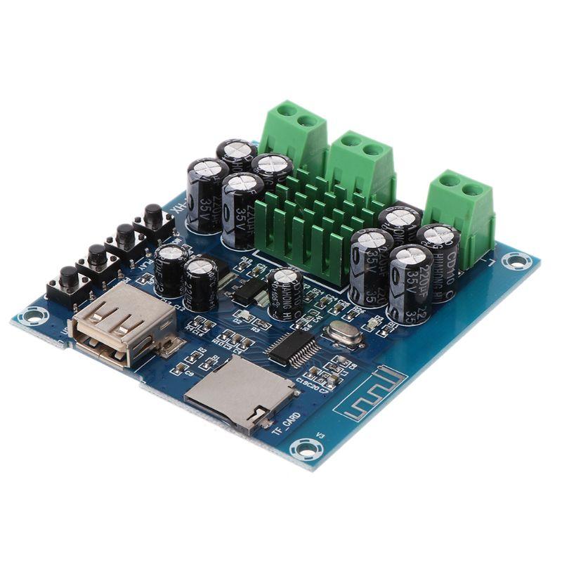 2x50W DC 12-24V TPA3116D2 doble canal estéreo Bluetooth Digital Audio receptor amplificador placa módulo para soporte TF tarjeta U Dis