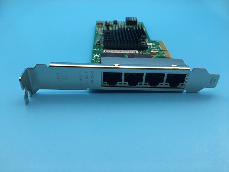 Nuevo I350AM4 4 puertos Gigabit Ethernet pci-express NIC I350-T4 tarjeta adaptadora de servidor de red
