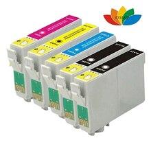 1 Set + 1 Black T1285 XL Compatible Inks (5 Cartridges) for Epson Stylus SX130 SX235W SX435W SX425W SX445W (Non-oem)