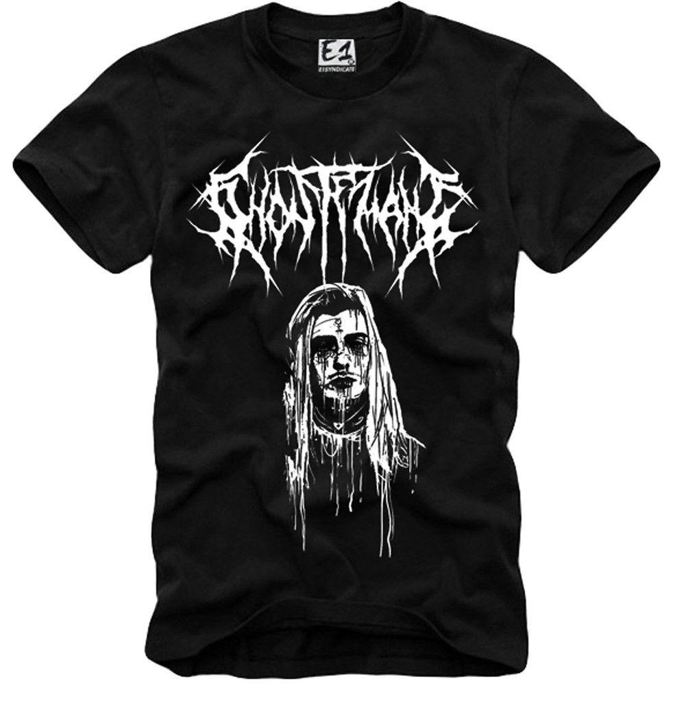 E1SYNDICATE T camisa GHOSTEMANE LIL Bomba De UZI XAN YACHTY POUYA GBC PEEP 3580 de 100% algodón para hombre impresión de la camiseta de T camisetas para hombre