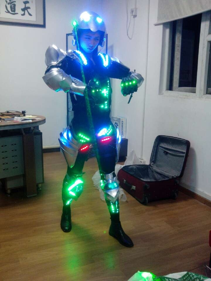 led robot costume LED Robot suits Luminous armour Stage Dance Wear Novelty Special Use