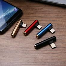 1 sztuk 3.5mm rodzaj usb C do adapter gniazda słuchawek przewód aux do Samsung LG XIAOMI rozgałęźnik zestawu słuchawkowego Mini i Slim