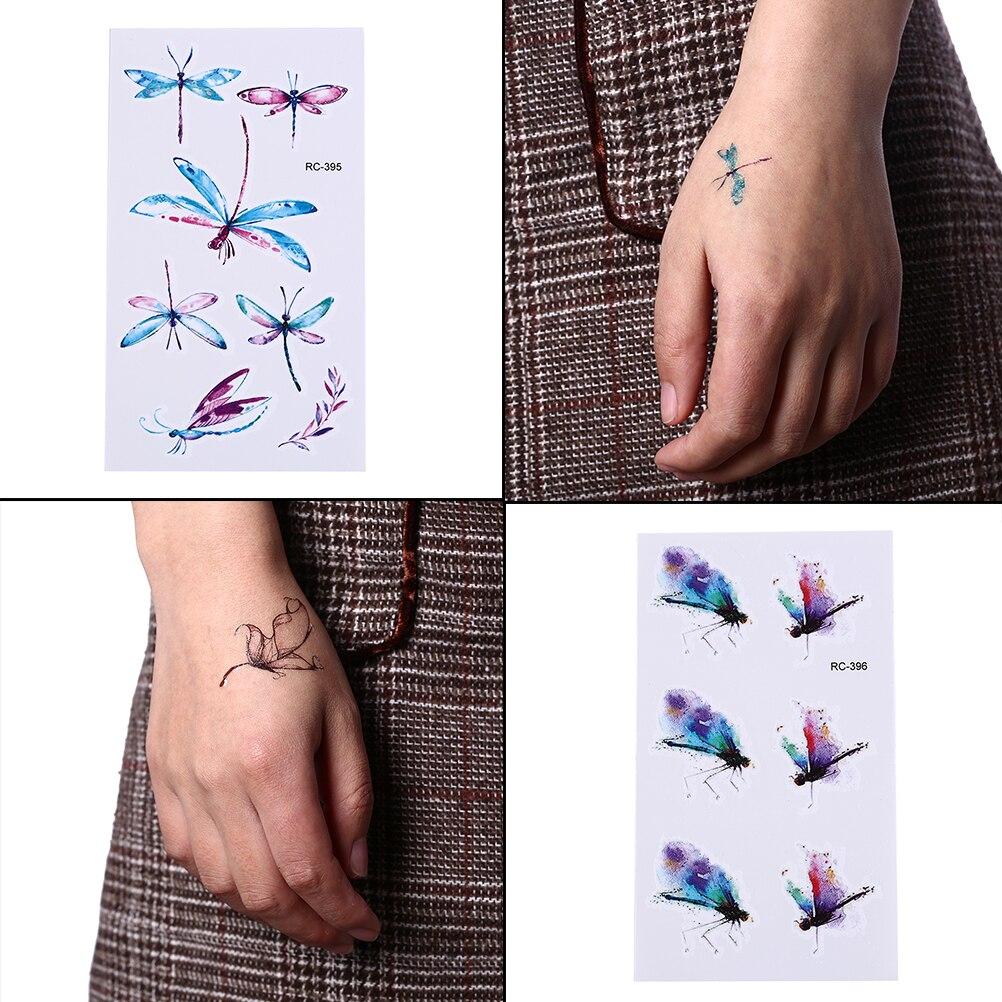 Libelle Bee Insekt Wasserdicht Temporäre Tattoo Männer Harajuku Flash Tattoo Aufkleber Tatoo Ärmel Gefälschte Tatto Faux Tatouage Espada