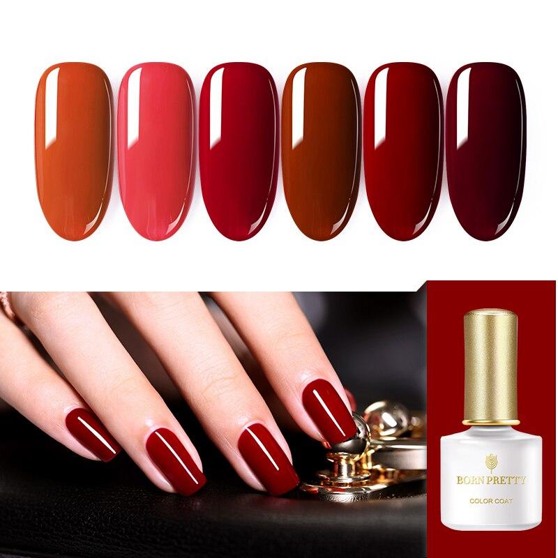 Nacido muy 6ml Gel polaco sangre de vaca rojo serie Color de uñas seco rápido Gel UV arte de esmalte de uñas diseño