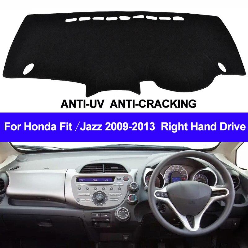 Taijs painel do carro capa para honda fit jazz 2009 2010 2011 2012 2013 direita traço esteira dashmat tapete anti-uv antiderrapante