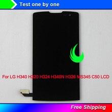 Original Qualität Für LG Leon H340 H320 H324 H340N H326 MS345 C50 LCD Display Touchscreen Digitizer Montage w Rahmen für LG H340