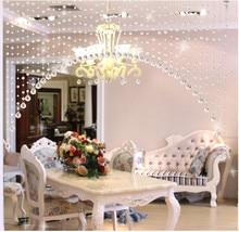 1 cortina de lujo con cuentas de cristal para puerta, cortina con borlas, suministros para fiesta y boda, Panel divisor para decoración de habitación y jardín D5
