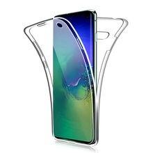 360 Double souple étui en silicone pour Samsung Galaxy S10 Plus S9 S8 S7 bord S10E A10 A30 A40 A50 M10 M20 A6 A8 Plus J4 J6 A9 A7 2018