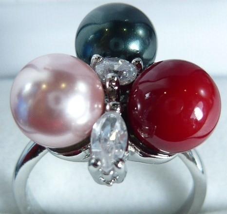8 mm milticolors noir rose et rouge de venta borla joyería India Bohemia anillos ajustable