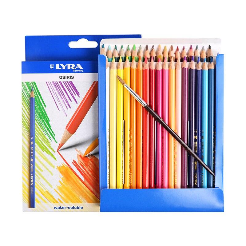 Lyra barra Triangular 36 color lápiz soluble en agua, color estudiante, pintura, lápiz de color.