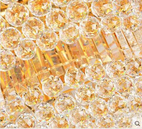 LED 31W-40W 60*60cm Modern Simple Atmospheric Golden Orb Sitting Room Bedroom Crystal Engineering Ceiling Lights 110-240V  - buy with discount
