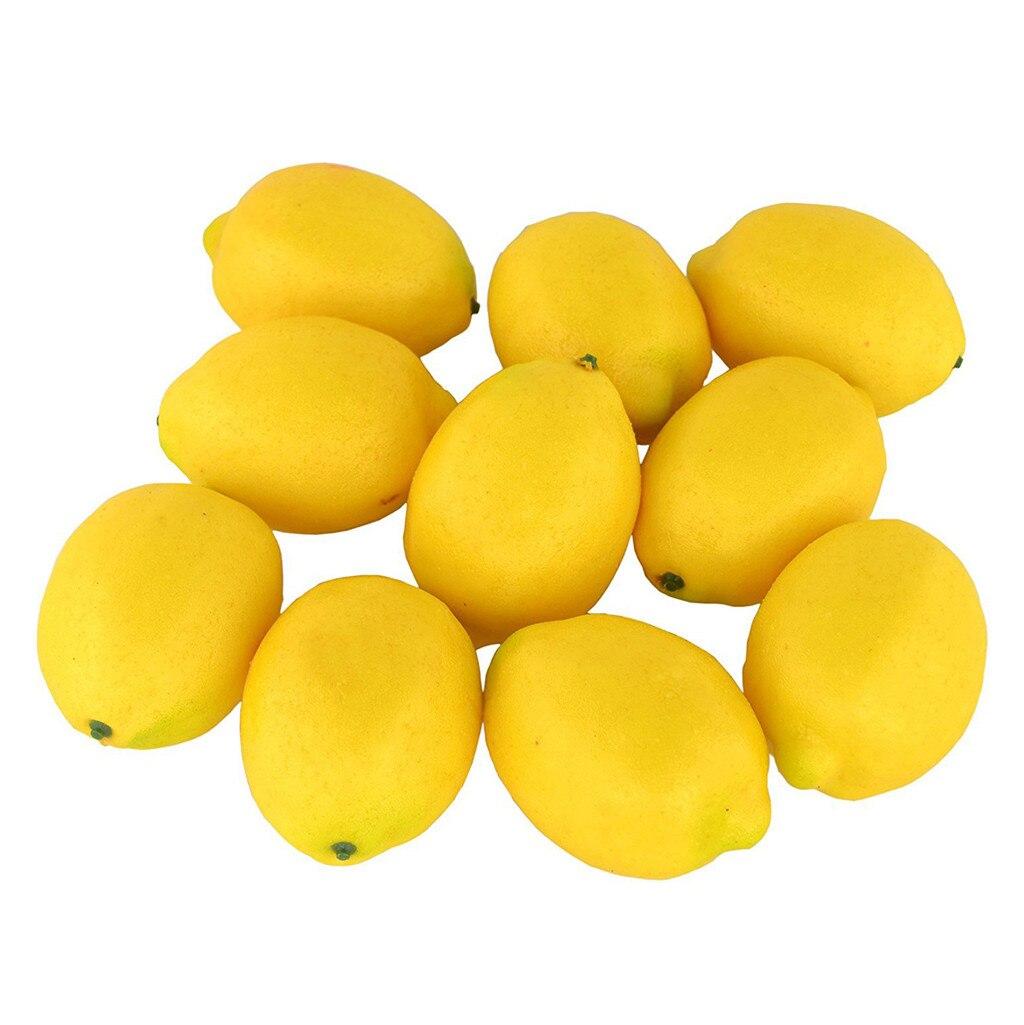 10 PCS Blase simulation Gefälschte Zitrone obst Künstliche Gemüse obst Modell Haus Küche Party Dekoration obst Lehre Requisiten
