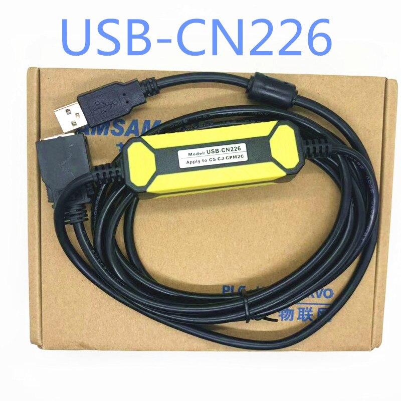 Envío gratuito OEM USB-CN226/PC-CQM1H Cabo PLC Adaptador de interfaz RS232 para CS/CJ/CQM1H/CPM 2C PLC PC/CQM1H... CS1W/CN226... PCCQM