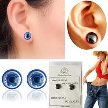 1 Pairs Blau/Schwarz Abnehmen Magnetic Ohrringe Abnehmen Patch Verlieren Gewicht Gesundheit Magneten Von Faul Paste Dünne Patch