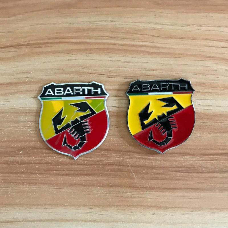 Adesivos de alumínio para abarth itália modificação emblema etiqueta do carro para fiat 500 alfa romeo ferrari lamborghini acessórios